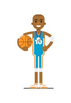 Młody afrykański mężczyzna koszykarz