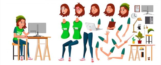 Młody biznesowej kobiety charakter