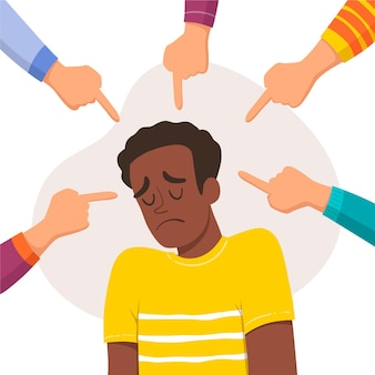 Młody człowiek jest zastraszany z powodu koloru skóry