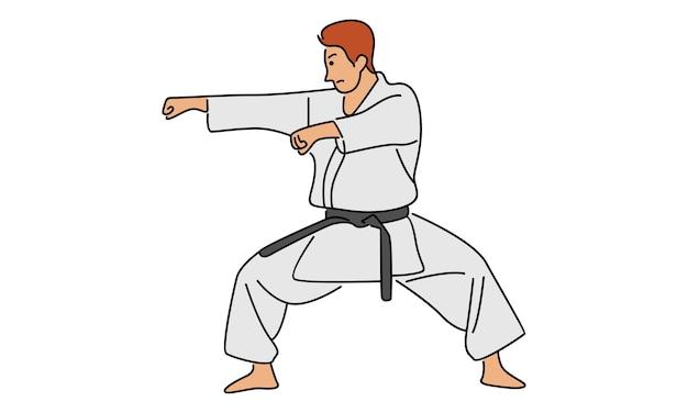 Młody człowiek karate