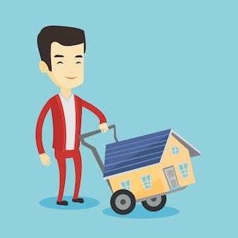 Młody człowiek kupuje dom