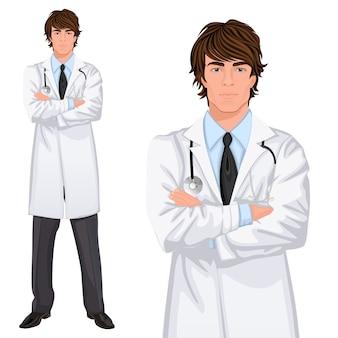 Młody człowiek lekarz charakter