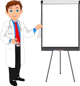 Młody lekarz i pusty znak