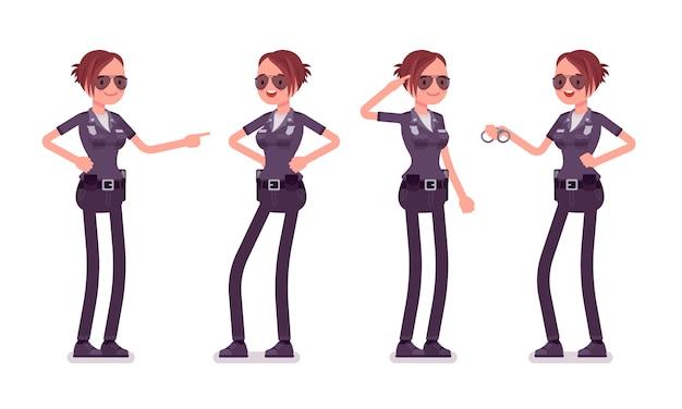 Młody szczęśliwy policjantka transparent