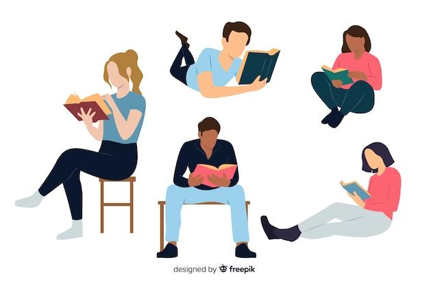 Młodzi ludzie czytający książkę