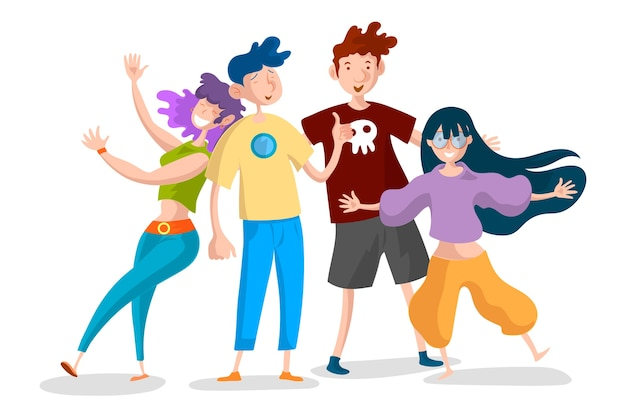 Młodzi ludzie ilustracji
