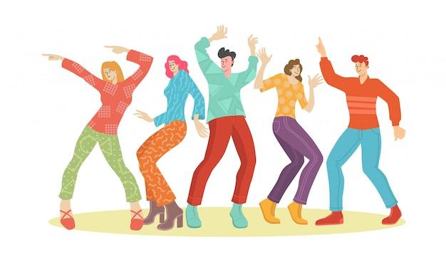 Młodzi ludzie tańczą szczęśliwy dzień młodzieży