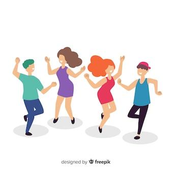 Młodzi ludzie tańczą