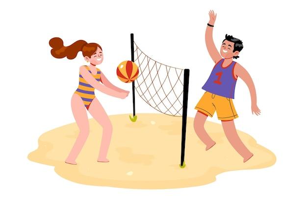 Młodzi ludzie uprawiający sporty letnie