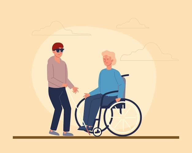 Młodzi mężczyźni niepełnosprawni