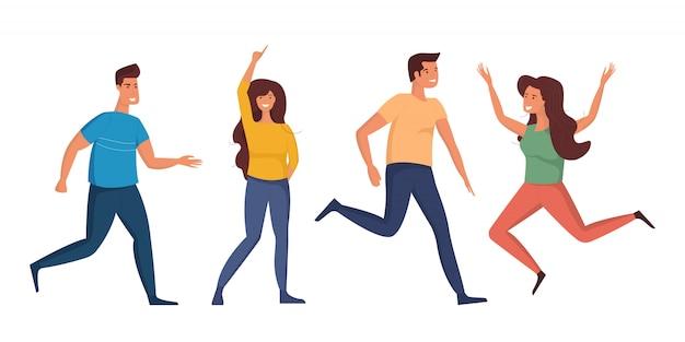 Młodzież tańczy ludzie.