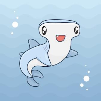 Młotek rekina w oceanie