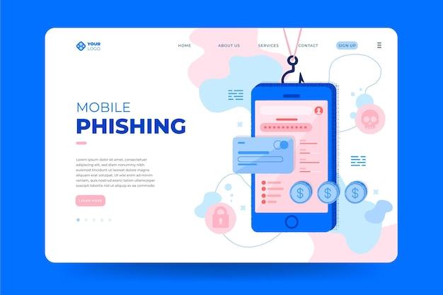 Mobilna strona docelowa phishingu