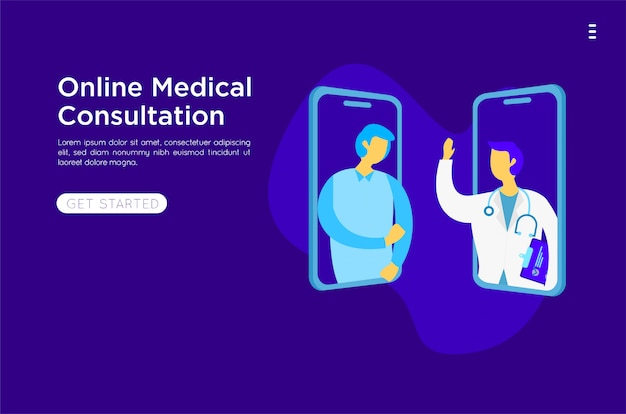 Mobilne medyczne płaskie ilustracji wektorowych