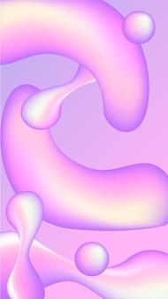 Mobilne tło z płynnymi kształtami