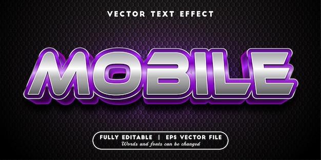 Mobilny efekt tekstowy, styl tekstu 3d