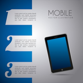 Mobilny projekt infografiki