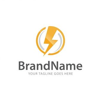 Moc bolt grzmot szybko ekspresowe elektryczne logo wektor szablon