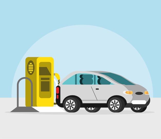 Moc samochodu elektrycznego i stacji ładującej