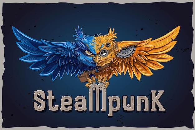 Mocna czcionka dekoracyjna steampunk