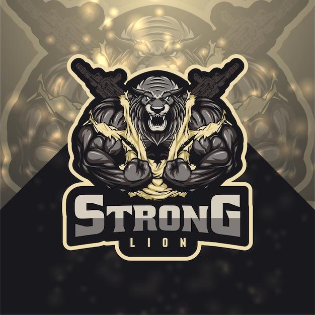 Mocne logo lion esport