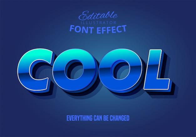 Mocny, odważny styl tekstu 3d z ciemnym wyciągnięciem i fajnym słowem