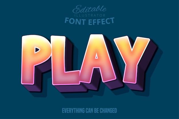 Mocny pogrubiony efekt czcionki 3d, szablon stylu tekst kreskówka