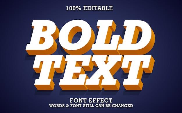 Mocny pogrubiony efekt tekstu 3d