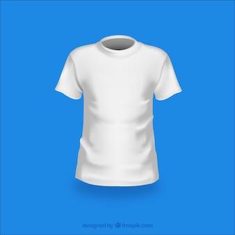 Moda biały t-shirt wektor opakowanie