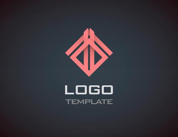 Moda biżuteria luksusowy koncepcja streszczenie logo szablon. logo firmy