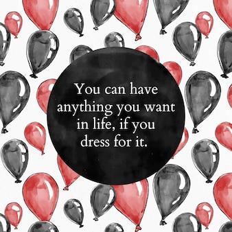 Moda cytat szablon wektor dla postu w mediach społecznościowych