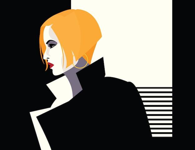 Moda kobieta w stylu pop-art. ilustracja