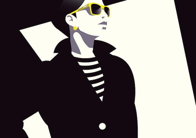 Moda kobieta w stylu pop-art.