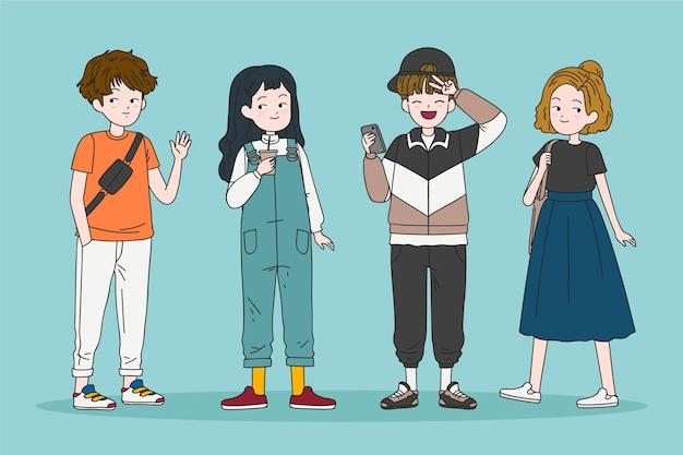 Moda młodych koreańczyków