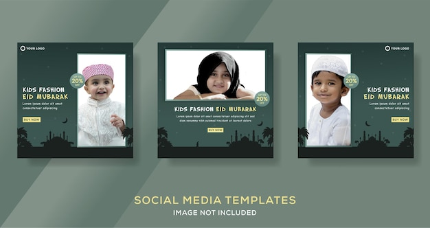 Moda muzułmańska hidżabu dla ramadan mubarak sprzedaż szablonu postu szablonu