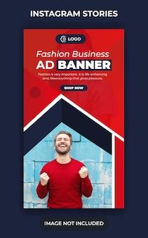 Moda na wielką sprzedaż lub projekt banera w mediach społecznościowych