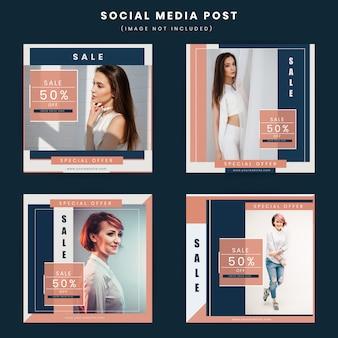 Moda nowoczesny plakat w mediach społecznościowych