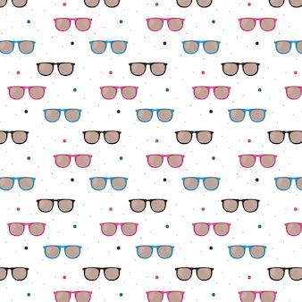 Moda okulary wzór tła