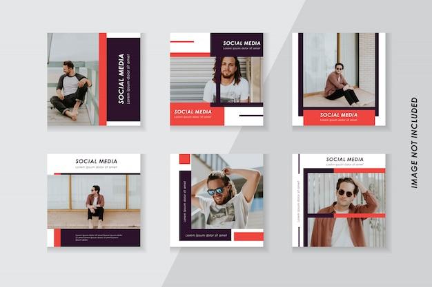 Moda pakiet szablonów mediów społecznościowych