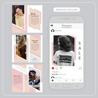Moda social media banery do marketingu cyfrowego