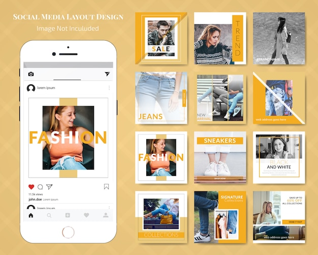 Moda social media sale banner post template