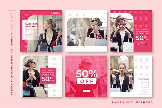 Moda sprzedaż szablon mediów społecznościowych instagram post