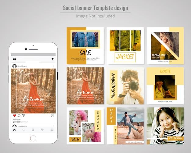 Moda sprzedaży szablon post media społeczne
