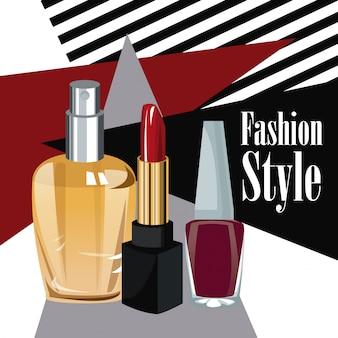 Moda styl kosmetyki perfumy wo plakat