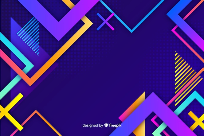 Modele geometryczne gradientowe tło