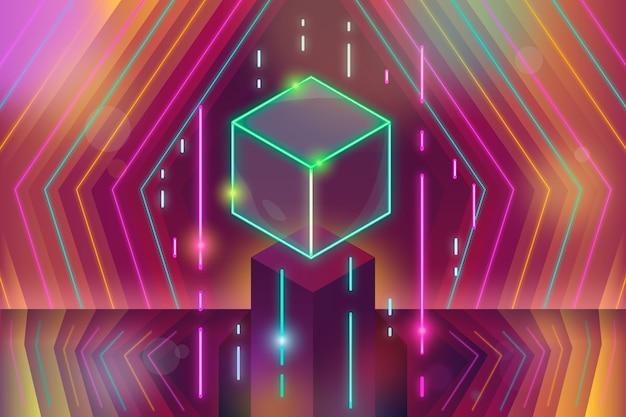 Modele geometryczne neonów tło