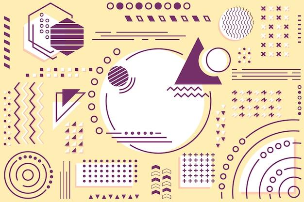 Modele geometryczne płaskie tło