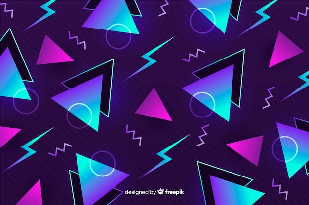Modele geometryczne retro tło