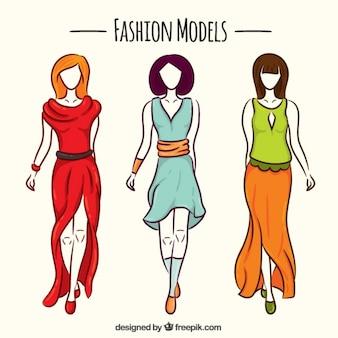 Modele ręcznie rysowane