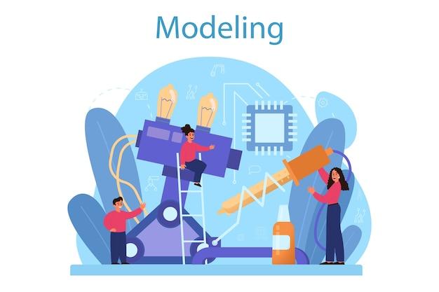 Modelowanie koncepcji przedmiotu w szkole.